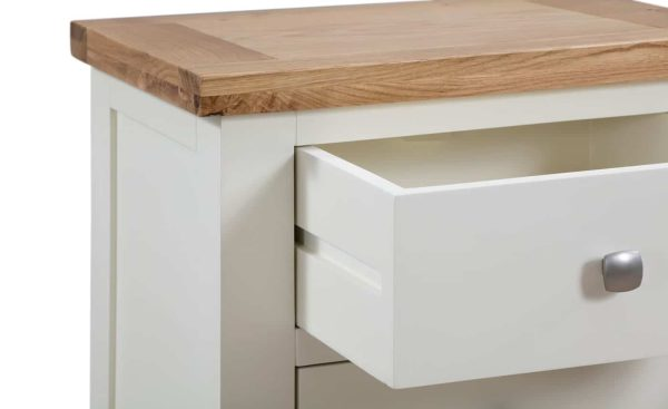 Devonshire Dorset Painted Ivory 1 Drawer Corner TV Unit   Fully Assembled