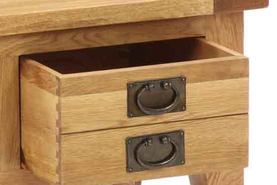 Besp-Oak Vancouver Oak VSP 1 Drawer Console Hall Table | Fully Assembled