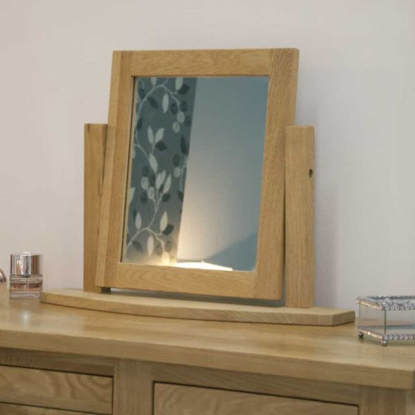 Homestyle Opus Solid Oak Dressing Table Mirror