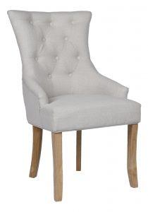 Besp-Oak Beige Dining Chair (Pack of 2)