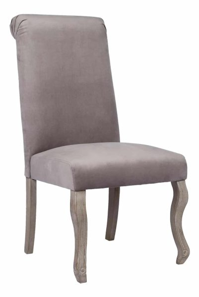 Besp-Oak Light Grey Dining Chair with Knocker (Pack of 2)