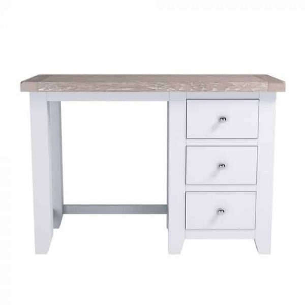 Hampshire Light Grey With Chalked Oak Tops Dressing Table
