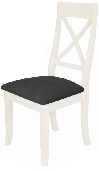 Classic Portland Painted White X-Back Dining Chair (Pair)