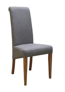 Devonshire Grey Fabric Dining Chair (Pair)