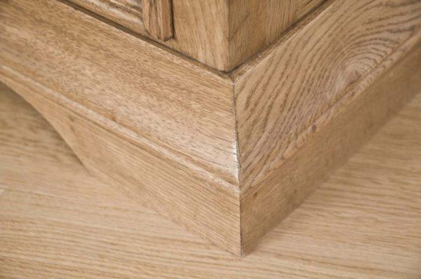Normandy French Solid Oak 3 Drawer Bedside Cabinet