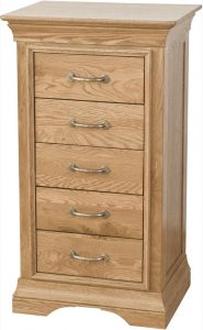 Normandy  French Solid Oak 5 Drawer Wellington Chest