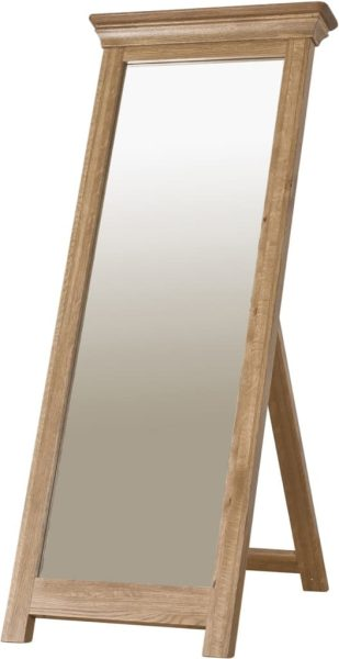 Normandy French Solid Oak Cheval Mirror