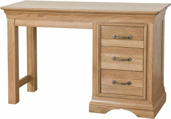 Normandy French Solid Oak Single Pedestal Dressing Table