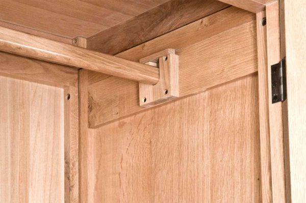 Normandy French Solid Oak 1 Drawer Wardrobe