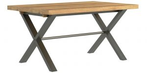 Classic Fusion Industrial Oak Small 1.5 Dining Table