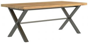 Classic Fusion Industrial Oak Large 1.9m Dining Table