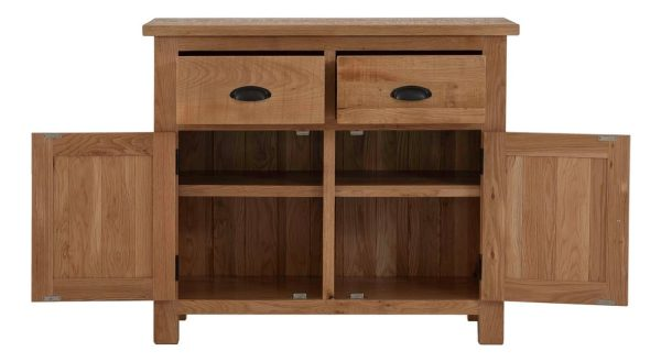 Besp-Oak Vancouver Sawn Oak Sideboard with 2 Drawers & 2 Doors | Fully Assembled