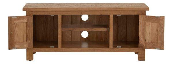 Besp-Oak Vancouver Sawn Oak 2 Door TV Unit with a Shelf | Fully Assembled
