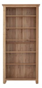 Besp-Oak Vancouver Sawn Oak Tall Bookcase with 6 Adjustable Shelves | Fully Assembled