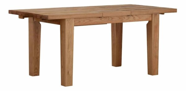 Besp-Oak Vancouver Sawn Oak Extending Dining Table 1.4M-1.8M