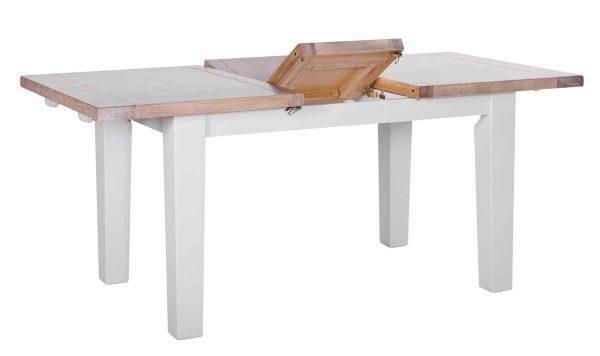 Besp-Oak Vancouver Chalked Oak & Light Grey Extension Dining Table 1.4 – 1.8