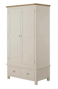 Classic Portland Painted Cream Gents Wardrobe