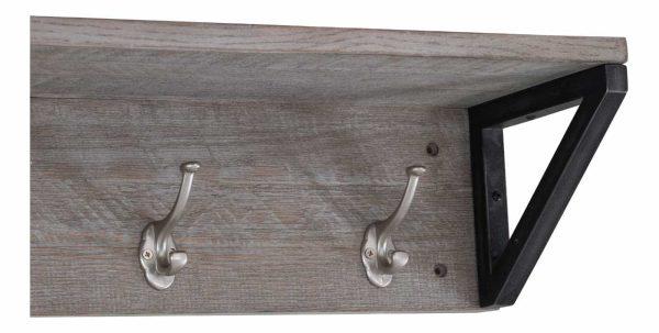 Besp-Oak Forge Iron and Weathered Oak Coat Rack