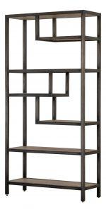 Besp-Oak Forge Iron and Weathered Oak Shelf Rack