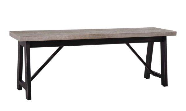 Besp-Oak Forge Iron and Weathered Oak Bench