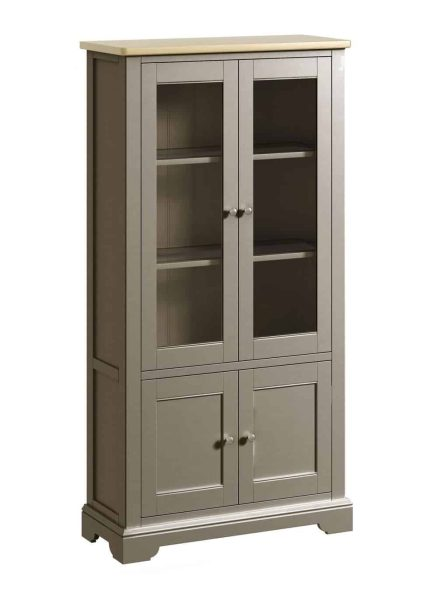 Classic Harmony Painted Pewter Display Cabinet   Fully Assembled