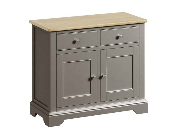 Classic Harmony Painted Pewter 2 Door Sideboard | Fully Assembled