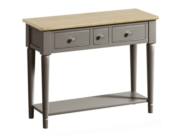 Classic Harmony Painted Pewter Console Table