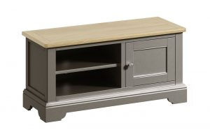 Classic Harmony Painted Pewter TV Cabinet | Fully Assembled