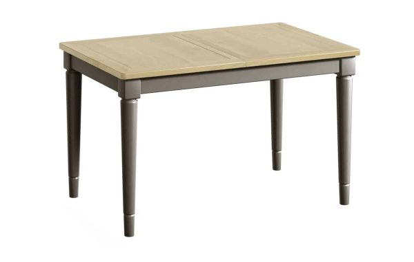 Classic Harmony Painted Pewter Small Extending Dining Table
