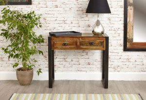 Baumhaus Urban Chic Console Hall Table with 2 Drawers
