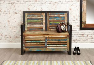 Baumhaus Urban Chic Storage Monks Bench | Fully Assembled