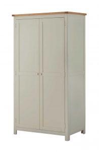 Classic Portland Painted Stone 2 Door Wardrobe