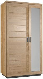 Classic Fusion Industrial Oak 2 Door Double Wardrobe