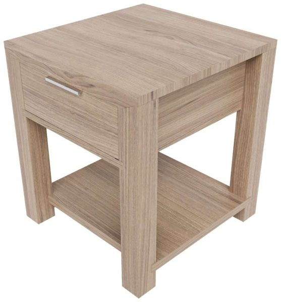 Laguna Oak Lamp Table with 1 Drawer | Fully Assembled