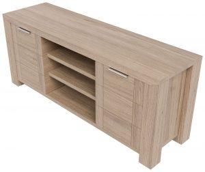 Laguna Oak TV Cabinet | Fully Assembled