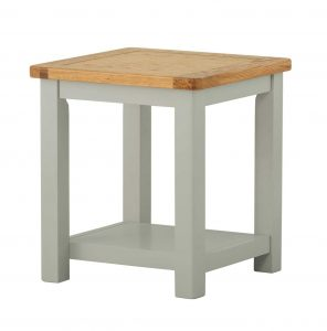 Classic Portland Painted Stone Lamp Table