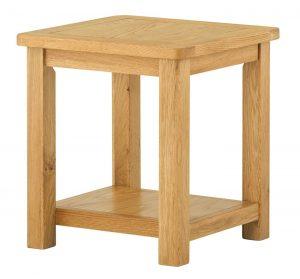 Classic Portland Oak Lamp Table