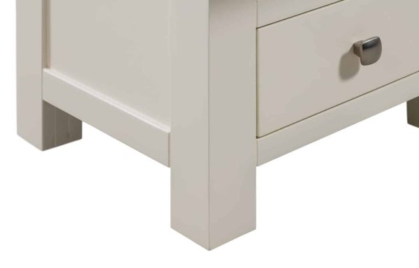 Devonshire Dorset Painted Ivory 5 Drawer Tall Wellington Chest | Fully Assembled