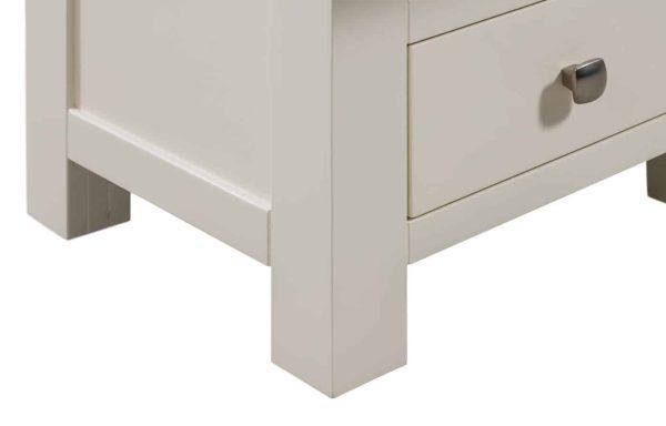 Devonshire Dorset Painted Ivory Narrow 3 Drawer Bedside Cabinet | Fully Assembled