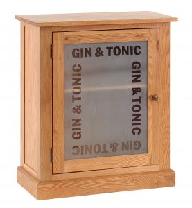 Besp-Oak Vancouver Petite Oak Gin & Tonic Drinks Cabinet | Fully Assembled