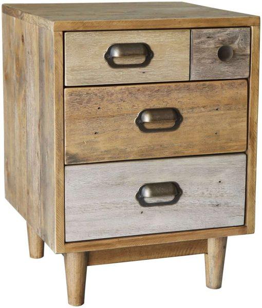 Classic Loft Reclaimed Pine Bedside Cabinet