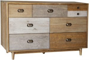 Classic Loft Reclaimed Pine 7 Drawer Wide Chest