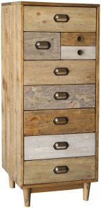 Classic Loft Reclaimed Pine Tall Wellington Chest