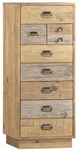 Classic Loft Reclaimed Pine Tall Wellington Chest with Plinth