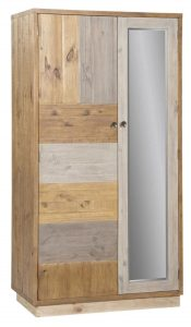 Classic Loft Reclaimed Pine Double Wardrobe with Plinth