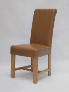 Louisa Chunky Scroll Tan Dining Chair (Pair)