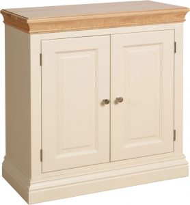 Lundy Painted Ivory With Oak Top  2 Door Sideboard | Fully Assembled
