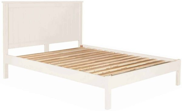 Classic Lily Painted White 5′ King Size Bed