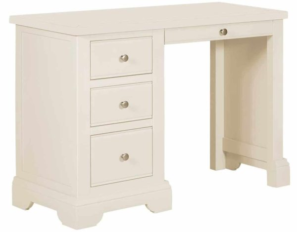 Classic Lily Painted White Dressing Table