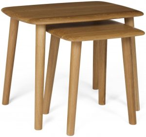 Malmo Scandi Style Oak Nest of Tables